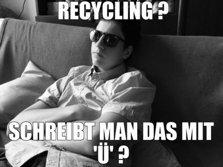 Jugendliche und Glasrecycling