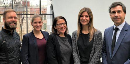 Mag. Michael Zipperer, Marie Czuray, MA; Teamleiterin Dr. Daniela Ortiz, Julia Domnanovic, MA; Dr. Christopher Kronenberg