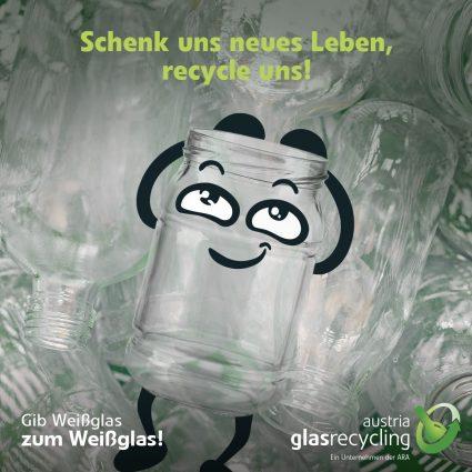 Marmeladeglas will recycelt werden
