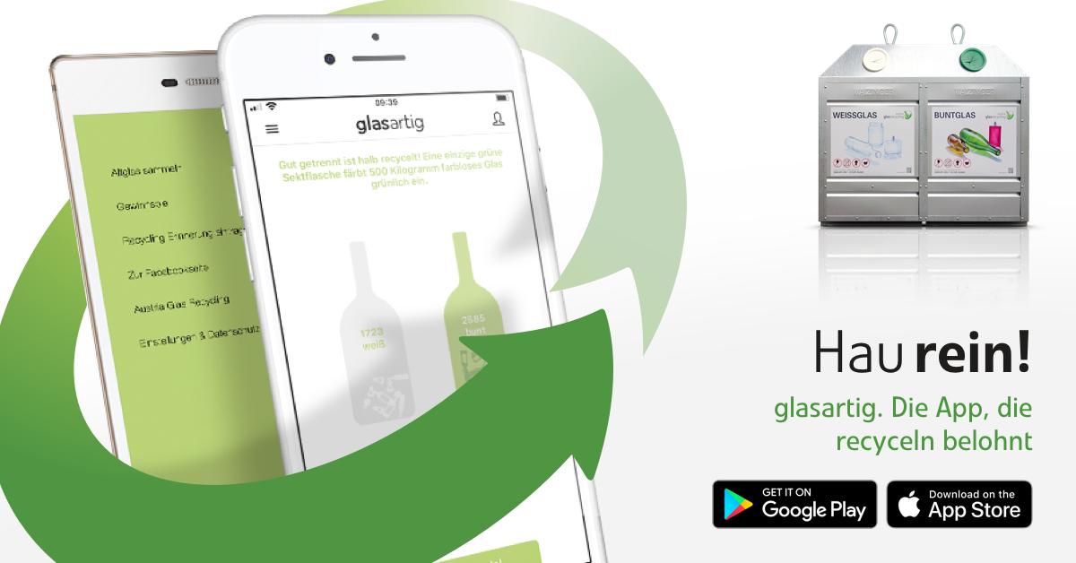 glasartig - die einzige App, die Recycling belohnt
